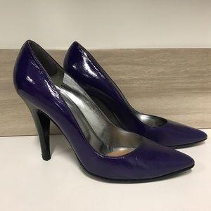 Sigerson Morrison purple patent pumps